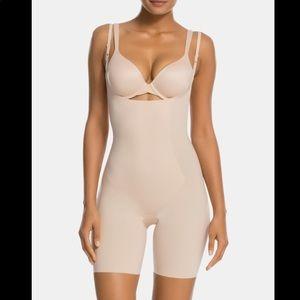 SPANX Mid-Thigh Open Bust Bodysuit